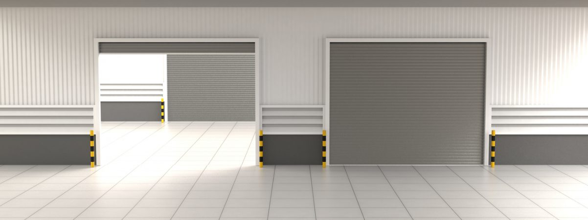 Shutter Door or Roller Door and Concrete Floor